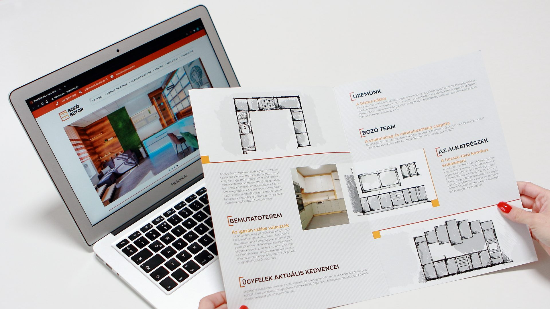 Webpage and Brochure