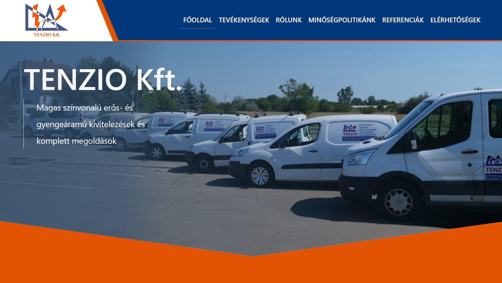 Tenzio homepage